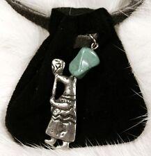 Native Am design Med Bag- spirit carrying torch (black)
