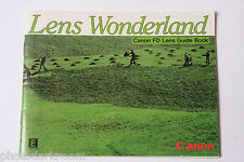Canon FD Lens Wonderland Collection Sales Brochure - English 1982 USED B2
