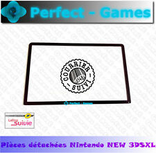 vitre protege ecran haut noir top surface glass lcd black nintendo NEW 3DS XL