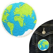 World globe iron on patch Earth worlds continent planet space embroidery patches