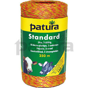 Patura Electric Fence Standard 3-Strand Polywire