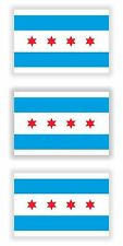 Chicago City Flags 3x Sticker for Truck Door Motorcycle Hard Hat Tool Box Fridge