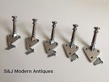 Heart Coat Hook Iron Modern Vintage Victorian Chrome Grey Antique Nautical Set 5