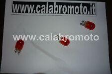 03 Lampada freccia 12V 5/21W  T20 tutto vetro Arancio 3 pezzi