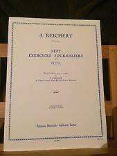 A. Reichert 7 exercices journaliers opus 5 pour flûte partition éditions Leduc