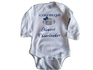 Dallas Cowboys Baby girl onesies 0-3 months