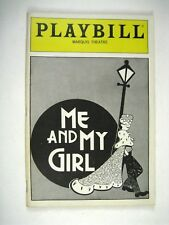 Me and My Girl Playbill 1988 Marquis Theatre Jim Dale Ellen Foley Jane Connell