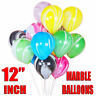 "12"" Helium Marble Latex Vibrant Colors Balloon For Birthday 5/10/20/50/100pcs UK"