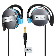 RockPapa On Ear Earphones Headphones for Laptop PC Tablet DVD iPhones MP3/4 Blue