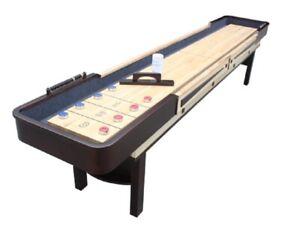 New Bluewave Hathaway Merlot 12' Shuffleboard Table - Espresso