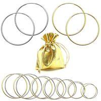 1 Paar 925 Sterling Silber 24 Karat Gold Creolen Creole Ohrringe Schmuckbeutel