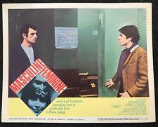 MASCULINE FEMININE Jean Luc Godard French New Wave 1966 Lobby Card Criterion 5