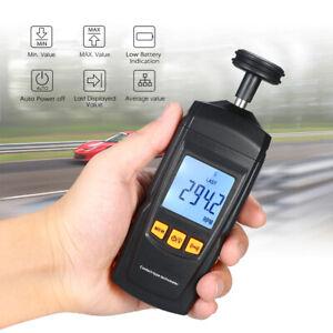 Digital Contact Tachometer Handheld Tach RPM Tester Machine Rotate Speed Meter