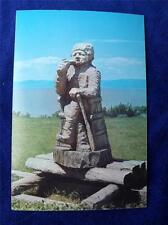 WOOD CARVING PRE STAMPED POSTCARD PORT JOLI QUEBEC CANADA POST OFFICE
