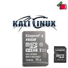 Kali Linux preinstallato 16 Gb CLASSE 10 scheda SD per Raspberry Pi 2 o 3