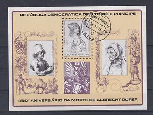 941 Sao Thome und Principe  Dürer Block 37 gestempelt (329)