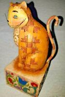 Jim Shore Jasper #114424 Enesco 2003  Tan/Yellow Cat  Retired