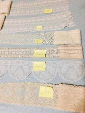 New listing Vintage Victorian Cotton Fine Lace Lot 11-1/2 Yds Lace Lot #3