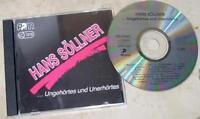 HANS SÖLLNER  CD Ungehörtes und Unerhörtes - unzensiert