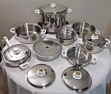 23 PIECE HEALTH CRAFT COOKWARE POT & PAN SET 5 PLY NICROMIUM SURGICAL STAINLESS