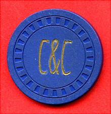 OLD VINTAGE 1953 ILLEGAL CASINO CHIP - $1.00 - BELL CIGAR STORE - OMAHA NEBRASKA