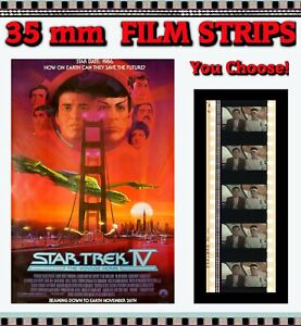Star Trek IV : The Voyage Home - 35mm Film Cell Strips - You Choose!