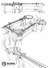 New! GlobalTek Stainless Steel 180 Degree U-Shape Conveyor Line System