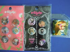"""2006 HASBRO BLYTHE DOLL BUTTONS :"""" PRETTY FLOWER """" AND """" SWEET SURRENDER"""" LOT !"""