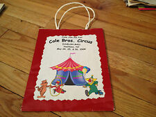 COLE BROS. CIRCUS Echelon Mall VOORHEES New Jersey Shopping Bag Clown Tiger 2004
