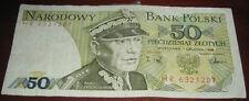 Banconote Europa/Polonia Narodowy Bank Polsky 50 Piecdziesiat Zlotych