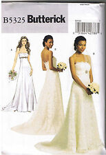 Princess Seam Empire Wedding Bridal Dress Gown Train Sewing Pattern 6 8 10 12
