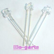 1000 Pcs Led 5mm 2 Pin Straw Hat White Led Light Emitting Diode Lamp Long Feet
