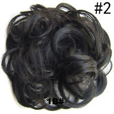 44 Colors Pony Tail Women Clip in/on Hair Bun Hairpiece Extension Scrunchie New