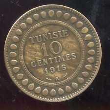 TUNISIE   10  centimes 1916  ( TTB )