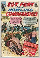 Sgt. Fury & His Howling Commandos #3 (1963) Very Good (4.0) ~ Marvel