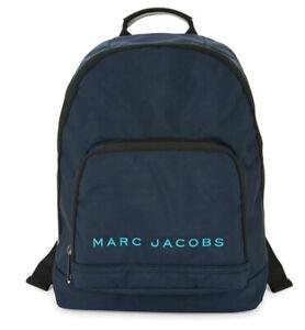 NEW MARC JACOBS New York Classic Logo Backpack Indigo Blue Bag M0014780 $225 NWT