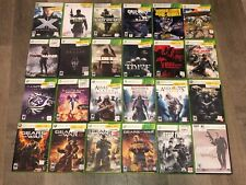 24 Xbox 360 Game Lot Assassins Creed Gears of War Call of Duty Saints Row Tomb