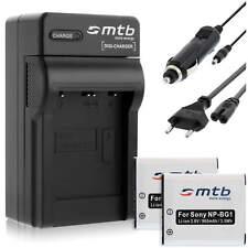 2 Akkus NP-BG1/FG1 + Ladegerät für Sony Cyber-shot DSC-W210, W215, W220