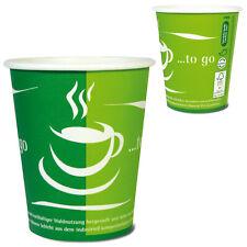 """1000 Coffee to go Becher 0,2l """"GO GREEN"""" umweltfreundlich"""