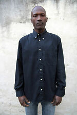Belfe & Belfe Made in Italy quality Dark Blue Cotton Mens SHIRT Sz 41 L GOOD FAB