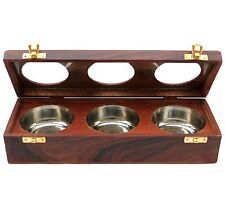 Beautiful Handmade Wooden Box Dry Fruit / Spice Container Antique for Home Deco