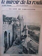 Le MIROIR de la ROUTE an 1930 Canal des Deux-Mers, WRIGH le motard, EAUX-CHAUDES