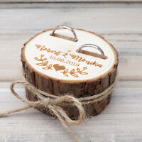 Personalized Wedding Ring Box, Custom Wedding Ring Bearer Box Rustic Ring Box