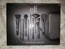 E.L.F. Studio Professional 11 Piece Makeup Brush Collection Set ELF 85015 Black