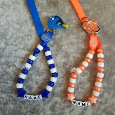 **FINDING NEMO OR DORY** PERSONALISED DUMMY CLIP,  READ FULL DESCRIPTION!!!