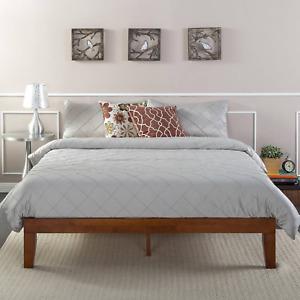 Zinus Deluxe Wood Platform Bed, Cherry Finish - Queen 12 Inch (bed frame)