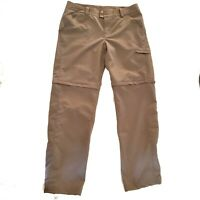 Columbia Titanium Convertible Pants Women's Sz 12 Outdoor Hiking Travel Brown