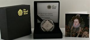 2008 Royal Mint Queen Elizabeth I Silver Proof  Five Pound £5 coin COA Box Outer