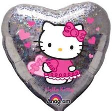 "Hello Kitty Holographic 18"" Heart Shape Foil Helium Party Balloon"