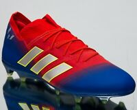 adidas Nemeziz Messi 18.1 FG New Mens Soccer Shoes Active Red Blue Silver BB9444